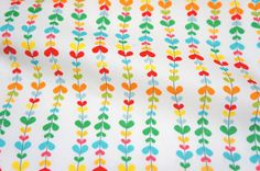 Japanese fabric Heart shape leaves Print A2 by beautifulwork