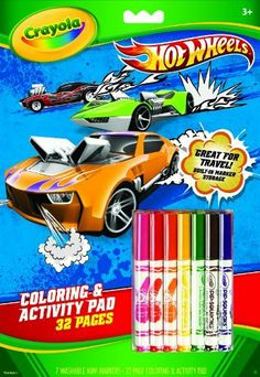 Crayola Hot Wheels Coloring And Activity Book With Markers By 699 Activities Appropriate