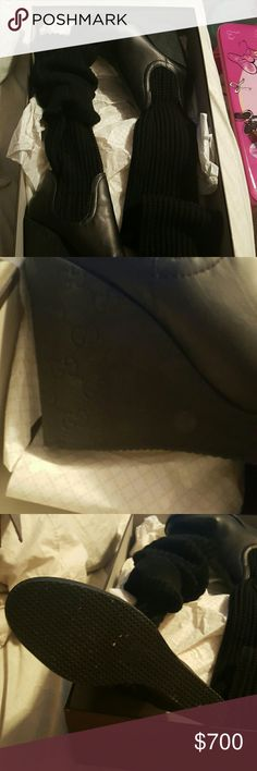 Women boots Gucci  boots worn 2 -3 times. Their unique with a thick sock material to adjust to your likely.  Whether u wanna wear over the knee or low etc.. gucci  Shoes Over the Knee Boots