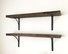 *This listing is for 1 shelf.* You can add as many to your cart as youd like. This handcrafted shelf is a beautiful rustic and functional piece for any home.   Each shelf measures 24 inches long and 7.5 inches in width. Roughly 2in thick. Perfect for holding books, candles, pictures etc.  Hardware for hanging each shelf is included. 2 brackets and screws are included per shelf. STAY IN TOUCH ----------------------  Facebook www.facebook.com/deanpennandpaper  Pinterest…