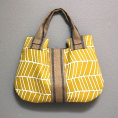 Handmade bag by Etsy seller DrikaB. #handmade #bag #yellow