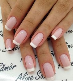 Wedding Nails-A Guide To The Perfect Manicure – NaiLovely French Acrylic Nails, French Tip Nails, Cute Acrylic Nails, Cute Nails, My Nails, French Tips, Bride Nails, Wedding Nails, Stylish Nails