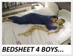 Bedsheet for lonely boys
