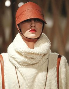 Hermès leather chapeau