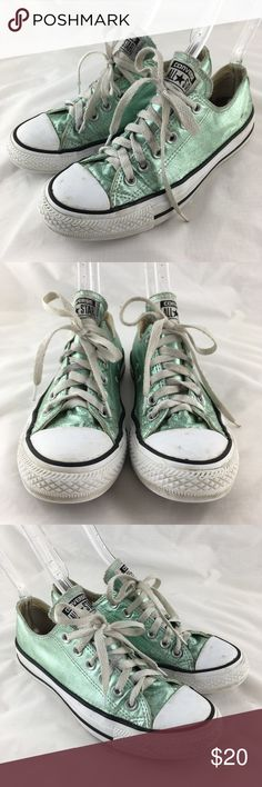 Converse sneakers metallic green Jade low top 7 Converse All Stars women s  sneakers b42f68c9b1
