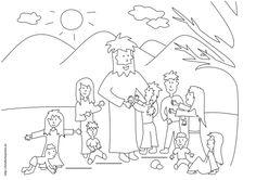 Szenen aus der Bibel: Kostenlose Malvorlage: Jesus spricht mit ...