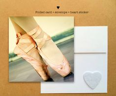 Blank photo card printed on recycled paper // shared with love // profits support charity // ballet dancer shoes in Italy (©Manuela Trevia)