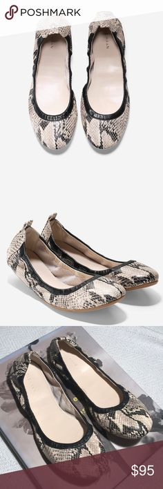 • COLE HAAN • jenni ballet flat Never worn Cole Haan jenni ballet flat. Snakeskin print. Women's size 9B. Never worn out. Only tried on! Open to reasonable offers!  Cole Haan Shoes Flats & Loafers