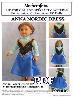 Hey, I found this really awesome Etsy listing at https://www.etsy.com/listing/190481594/princess-anna-frozen-dress-pdf-pattern