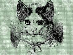 Digital Download Kitty with Bell collar by britishislesartworks, $2.49
