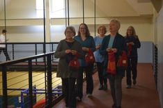 """Can you walk and knit at the same time? - At """"Knit Fit,"""" you can - Mount Desert Islander Knitting Patterns Free, Free Knitting, Indoor Track, Bring A Friend, Knitting Humor, Vogue Knitting, Social Activities, One Bag, Other Woman"""