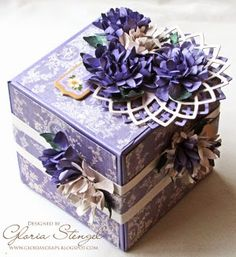Amazing! Make your own Lavender Flowers and Flourishes Artist Trading Block with this amazing tutorial.