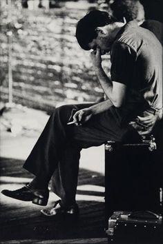 Ian Curtis, lead singer of Joy Division.  Photo by Anton Corbijn.