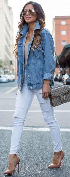 30+ Idea How to Style With Blue Denim