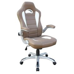 14498 Techni Mobili Sport Race Executive Office Chair In Camel