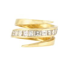 Lot 306 – Gold and Diamond Crossover Ring, Bulgari