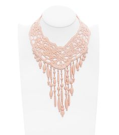 Shop Women's Jean Paul Gaultier Necklaces on Lyst. Track over 39 Jean Paul Gaultier Necklaces for stock and sale updates. Wire Crochet, Crochet Quilt, Crochet Hooks, Knit Crochet, Lace Jewelry, Jewelry Crafts, Handmade Jewelry, Jewellery, Jean Paul Gaultier