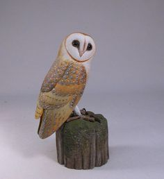 Barn-owl-wood-carving