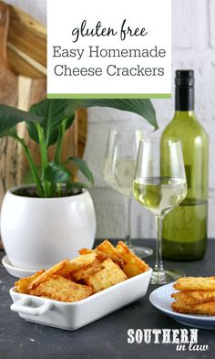 Easy Homemade Gluten Free Two Cheese Crackers – a cross between crackers, savory cookies and pastry, these homemade cheese crackers couldn't be easier to make. Combining cheddar and ricotta cheese, they're full of flavour and made in minutes in a food processor. Gluten free, clean eating friendly, egg free, nut free and perfect for dinner parties and entertaining.