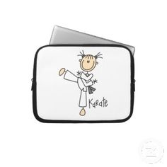 "Karate Girl Laptop Sleeve 10"". Cute Valentine's Day Gifts for Her"