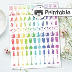 Cleaning printable planner stickers Erin Condren by AnnaLizDesign