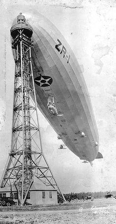 USS Shenandoah on Mast