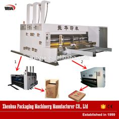 Automatic 2 color printing slotting die cutting box making machine