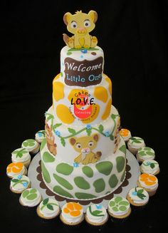 Lion King 5 piece Baby shower edible toppers for by LoveTheTopper