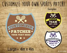Shield Tennis Custom Patches
