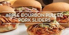Apple Bourbon Pulled Pork Sliders