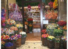 A candy shop in Sulmona, Abruzzo, Italy.  The shops are beautiful.