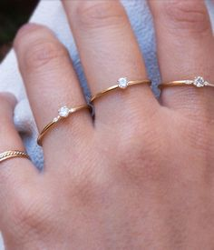 This stunning little beauty is a must-have for any ring lover. A prong set…