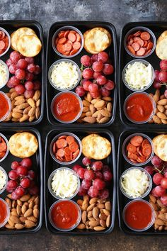DIY Pizza Lunchables - This is so much better, tastier and healthier than the store-bought kind! Prep/make ahead of time for the week in just min Meal Prep Ideas + Keto Recipes for Fat Loss & Muscle Building Lunch Snacks, Clean Eating Snacks, Lunch Recipes, Healthy Eating, Lunch Box, Clean Foods, Snack Box, Dishes Recipes, Eating Habits