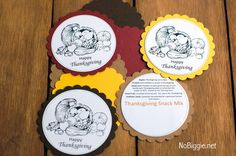 Thanksgiving Snack Mix (with Free Printable) LOVE the written tag with mix meaning