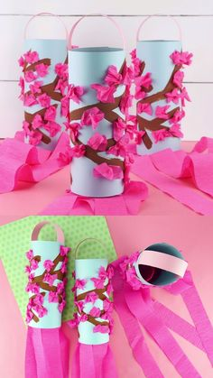 Beautiful Cherry Blossom Spring Craft for Kids