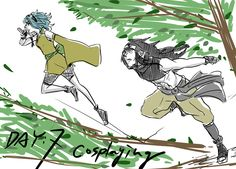 Gajevy cosplaying as ninjas! [by https://twitter.com/isamura_33]