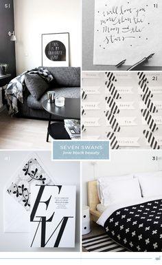 Swans love black   Seven Swans wedding stationery Seven Swans, Swan Love, Humble Abode, Wedding Stationery, Trends, Beauty, Black, Home Decor, Decoration Home
