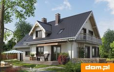 Wizualizacja AN TURKUS CE 2nd Floor, Home Fashion, House Plans, Sweet Home, House Design, Cabin, Flooring, Mansions, Architecture