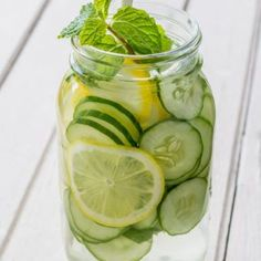 You'll be floored by these Cucumber Spa Water Health Benefits. This refreshing drink will flush and detox your body. It keeps you feeling full so you won't eat as much and even helps increase your metabolism.