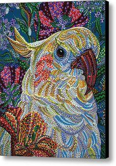 Cockatiel Canvas Print / Canvas Art By Erika Pochybova