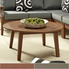Yasawa Wood Patio Round Coffee Table iNSPIRE Q Oasis - Free Shipping Today - Overstock.com - 19770514