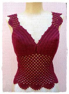 louca por linhas - crochet e patchwork: Top Princess II