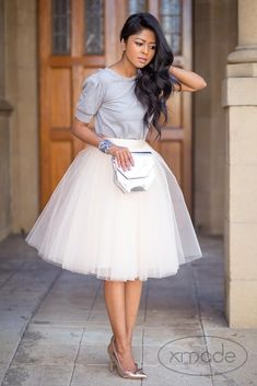 Very Fluffy Full 7 Layers Tulle Skirt Hidden Zipper Summer High Waisted Midi Skirts Womens Tutu Pleated Faldas Saias ** AliExpress Affiliate's Pin. Click the VISIT button for detailed description Adult Tulle Skirt, White Tulle Skirt, Tulle Dress, Pleated Skirt, Tulle Skirts, Midi Skirts, Look Fashion, Fashion Outfits, Elegantes Outfit