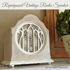 Repurposed Junk : I love playing with old junk, and I love turning old junk int. : Repurposed Junk : I love playing with old junk, and I love turning old junk int… Repurposed Items, Repurposed Furniture, Painted Furniture, Vintage Furniture, Furniture Ideas, Poste Radio, Art Nouveau, Trash To Treasure, Vintage Diy