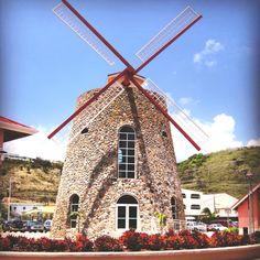 Windmill -- St. Maarten. Beautiful.