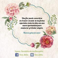 Cada día de la semana puedes regalar una flor y al final crear una sonrisa. #FloresAdelita #Floristerías