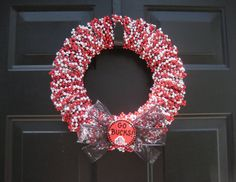 Ohio State Wreath. I'm almost finished with one similar to this!