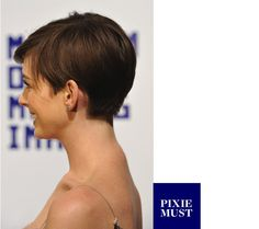 side view of anne hathaway's haircut, for future reference