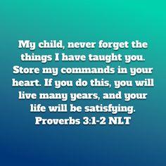 Proverbs 3:1-2