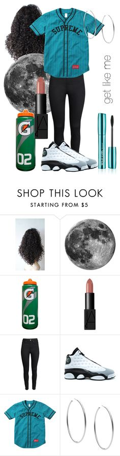 """get like me"" by britt-kaiaunna ❤ liked on Polyvore featuring NARS Cosmetics, H&M, Retrò and Michael Kors"